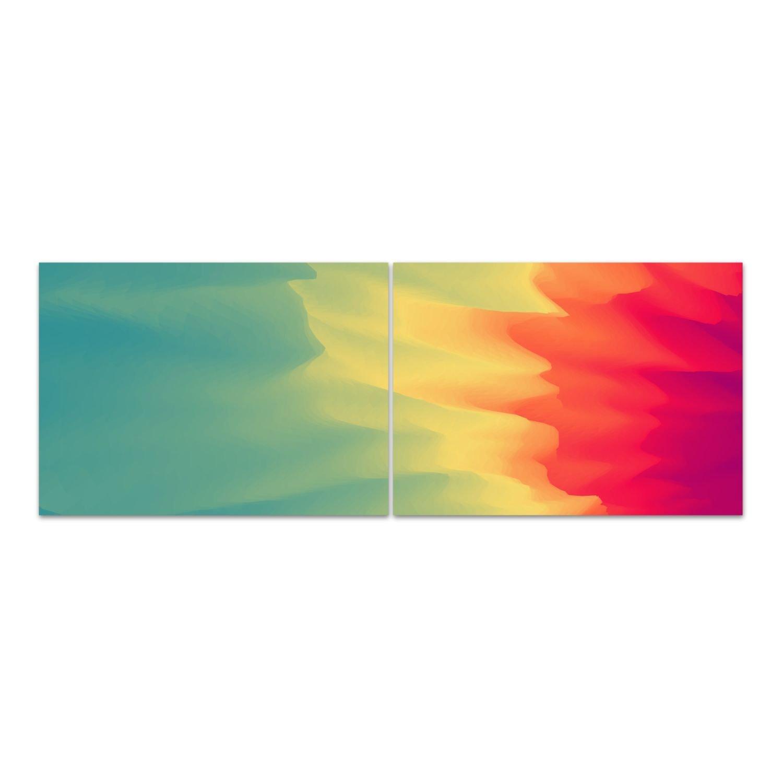 """Glasbild von DekoGlas /""""Abstraktion/"""" alle Größen Echtglas Acrylglas"""